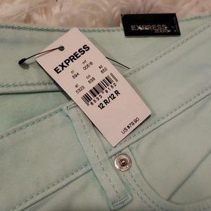 Express Jeans Pantalones Para Mujer Muy Lindos En Tono Menta Poshmark
